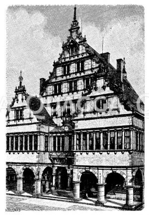 Rathaus zu Paderborn Zeichnung/Illustration