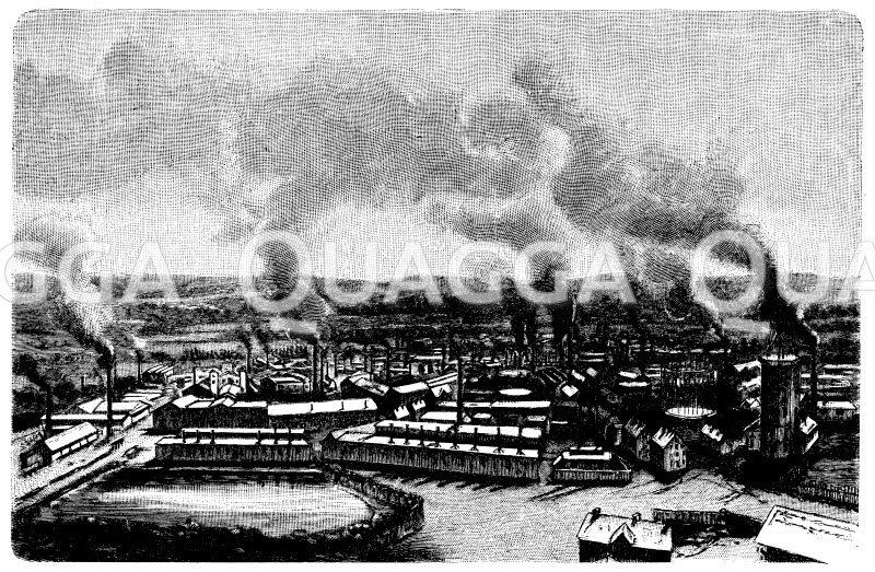 Hüttenwerke von Krupp in Essen