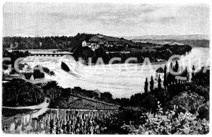 Rheinfall bei Schaffhausen Zeichnung/Illustration