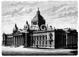 Reichsgerichtsgebäude in Leipzig Zeichnung/Illustration