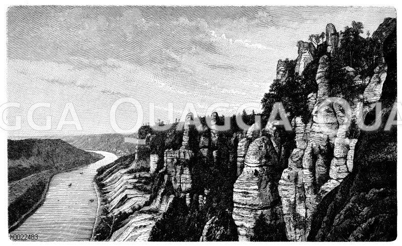Bastei in der Sächsischen Schweiz Zeichnung/Illustration