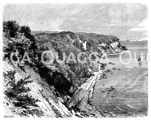 Steilküste bei Stubbenkammer auf Rügen Zeichnung/Illustration