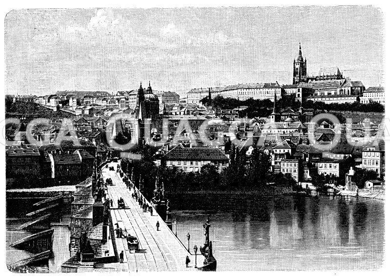 Kleinseite von Prag Zeichnung/Illustration