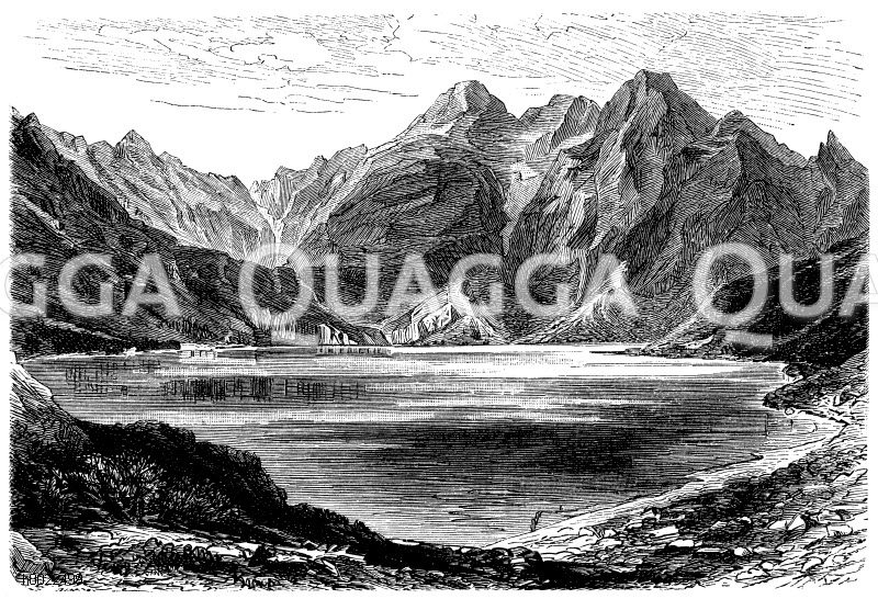 Fischsee in der Hohen Tatra Zeichnung/Illustration