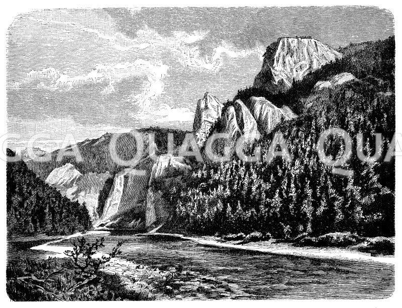 Durchbruch des Dunajec in den nördlichen Karpaten Zeichnung/Illustration
