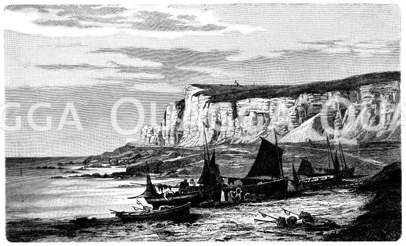 Steilküste in der Normandie Zeichnung/Illustration