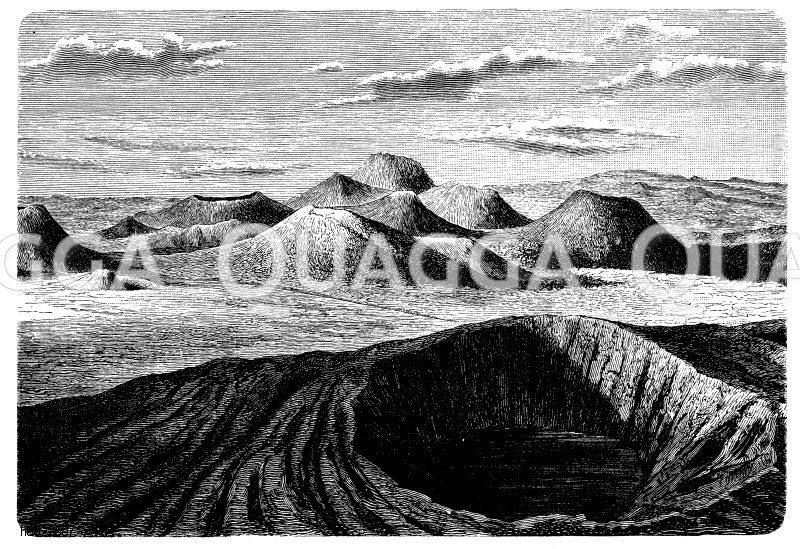 Vulkangebiet des Puy Chopine in der Auvergne Zeichnung/Illustration