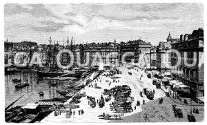 Hafen von Marseille Zeichnung/Illustration