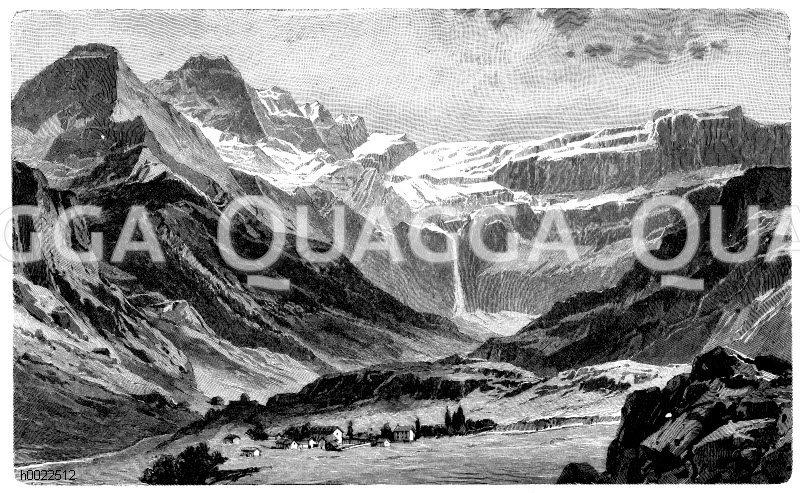 Felsenzirkuns von Gavarnie (Zentralpyrenäen) Zeichnung/Illustration