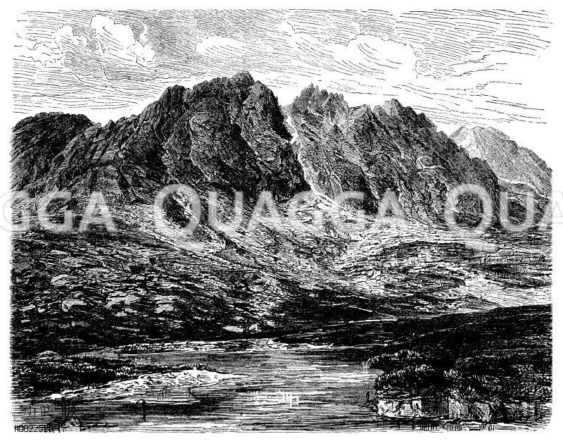Felkasee bei Schmecks in der Tatra Zeichnung/Illustration