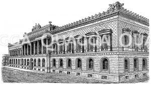 Reichsbank in Berlin Zeichnung/Illustration