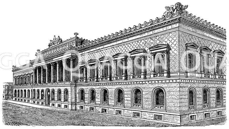 Reichsbank in Berlin Zeichnung/Illustration