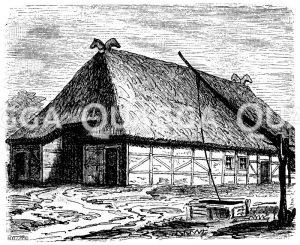 Holsteinisches Bauernhaus Zeichnung/Illustration