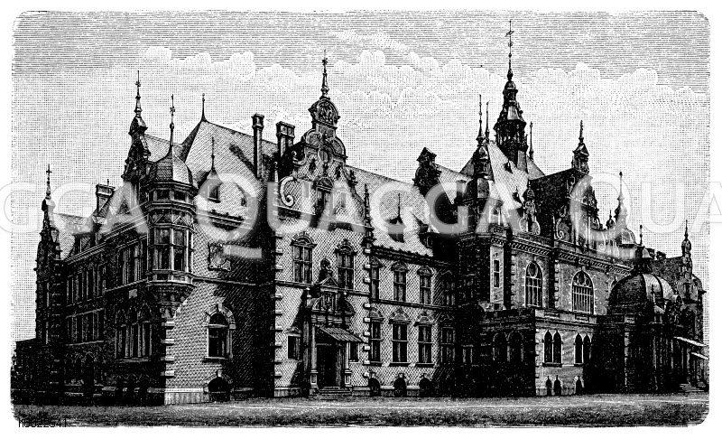 Deutsches Buchhändlerhaus in Leipzig Zeichnung/Illustration