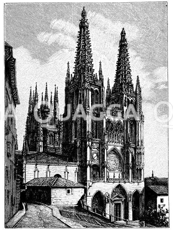 Kathedrale zu Burgos Zeichnung/Illustration