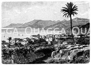 Bordighera an der Riviera Zeichnung/Illustration