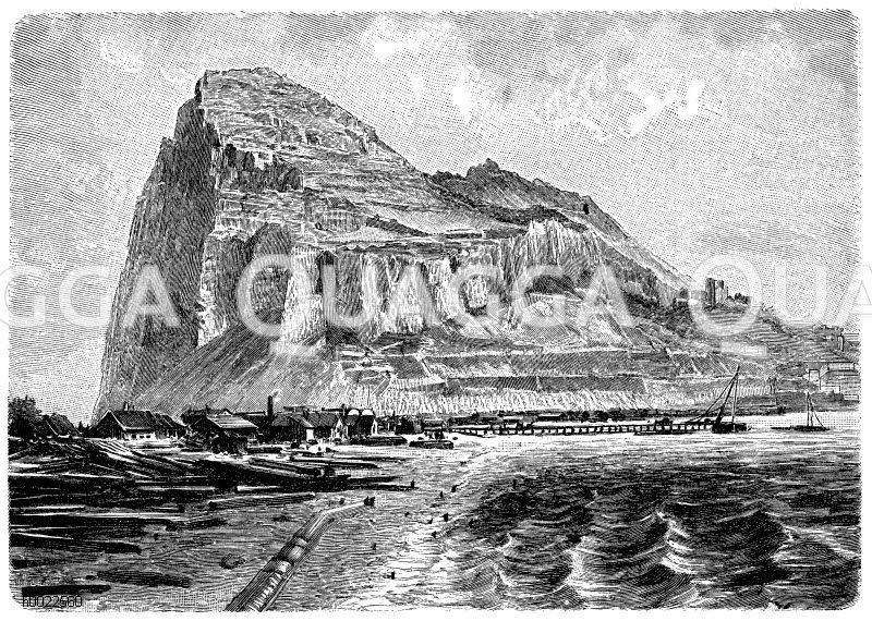Fels von Gibraltar Zeichnung/Illustration