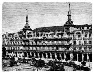 Großer Platz in Madrid Zeichnung/Illustration