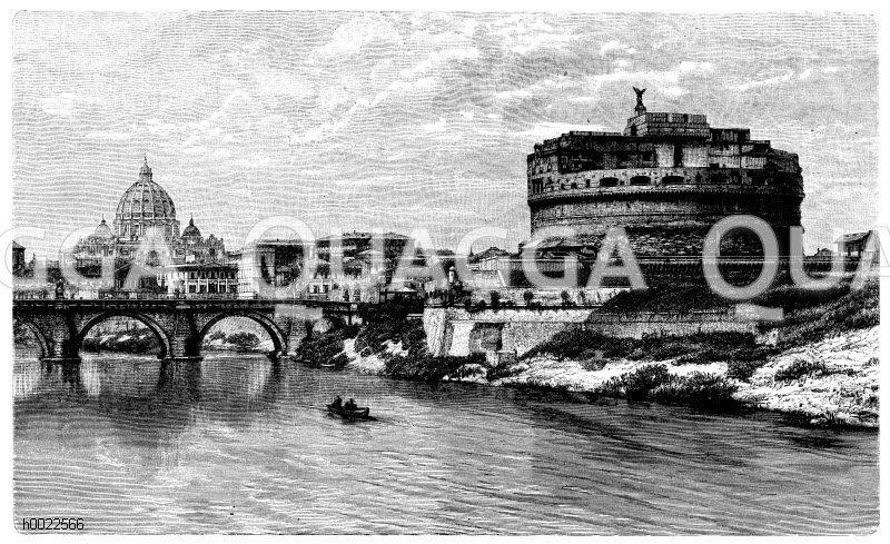 Engelsburg in Rom Zeichnung/Illustration