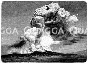 Ausbruch des Vesuv am 26. April 1872 Zeichnung/Illustration