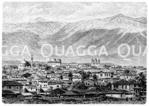 Sofia und as Vitoschgebirge Zeichnung/Illustration