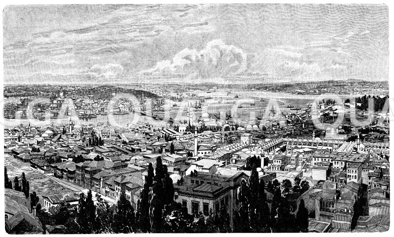 Konstantinopel und das Goldene Horn Zeichnung/Illustration