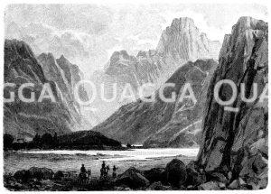 Pass Hagia Rumeli im Sphakia-Gebirge auf Kreta Zeichnung/Illustration