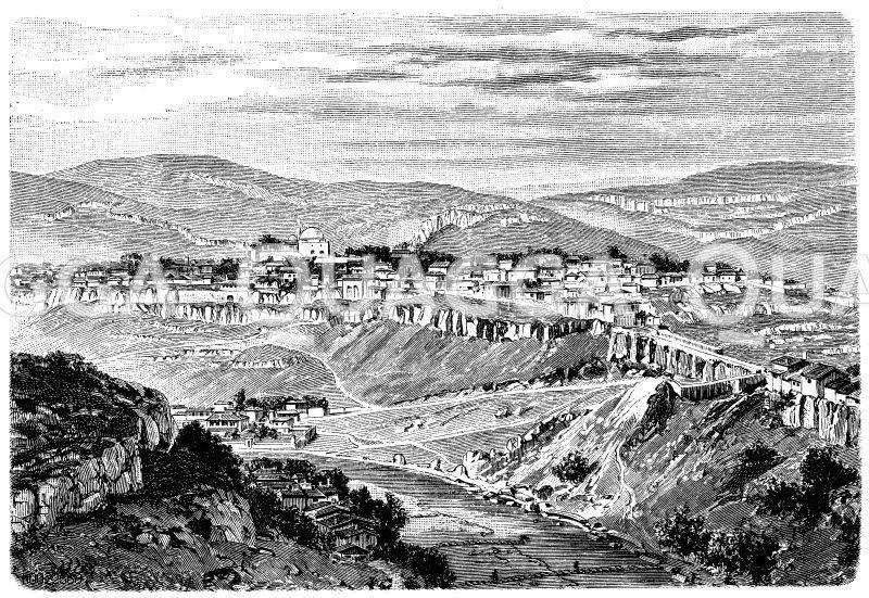 Jantratal im Balkan bei Tirnowa Zeichnung/Illustration