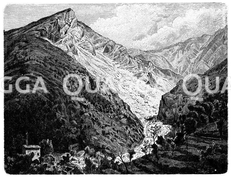 Marmorbrüche von Carrara Zeichnung/Illustration