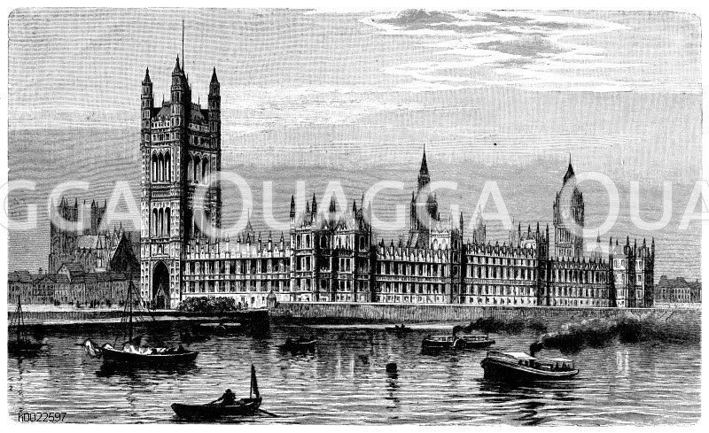 Parlamentsgebäude in London Zeichnung/Illustration