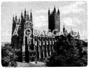 Dom zu Canterbury Zeichnung/Illustration