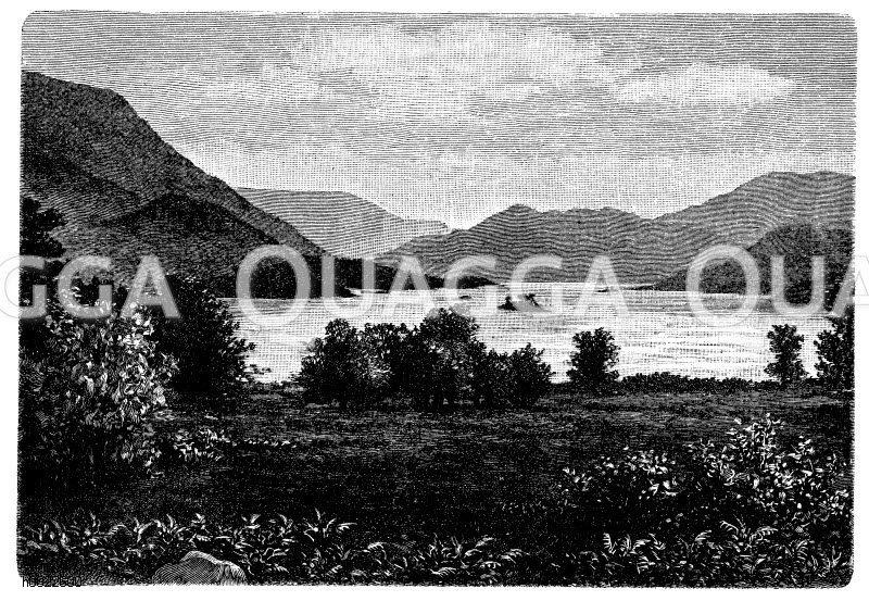 Cumberlandseen in England Zeichnung/Illustration