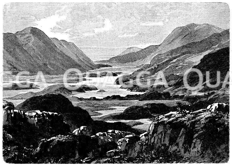 Seen von Killarney in Irland Zeichnung/Illustration