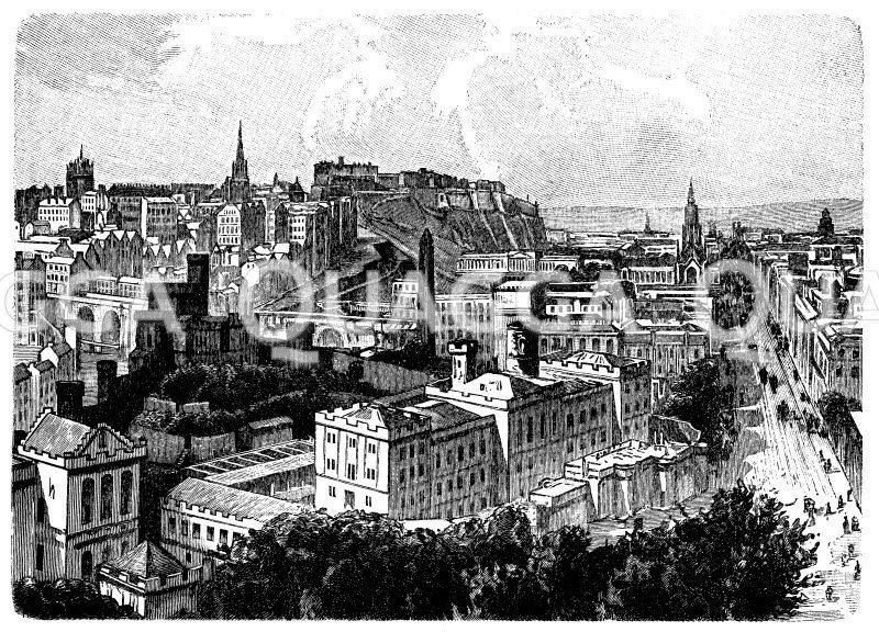 Edinburg Zeichnung/Illustration