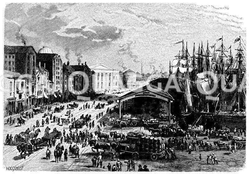 Docks in Liverpool Zeichnung/Illustration