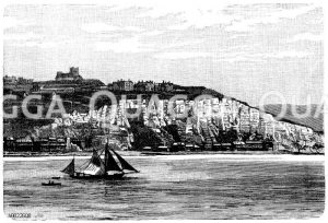 Kreideküste bei Dover Zeichnung/Illustration