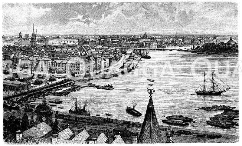 Stockholm Zeichnung/Illustration