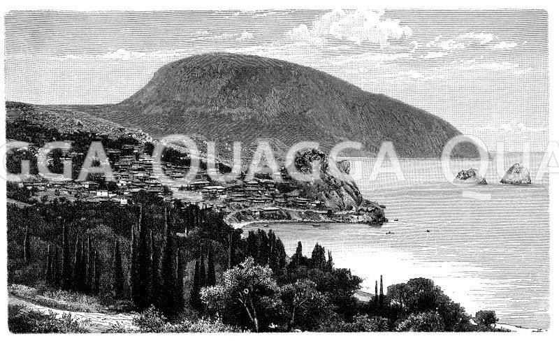 Bai von Ursuf auf der Halbinsel Krim Zeichnung/Illustration