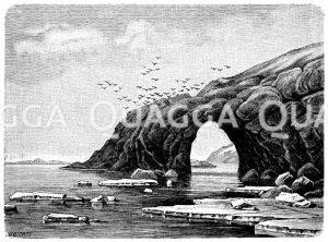 Bürgermeistertor auf der Bäreninsel Zeichnung/Illustration