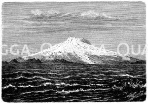 Beerenberg auf Jan Mayen Zeichnung/Illustration
