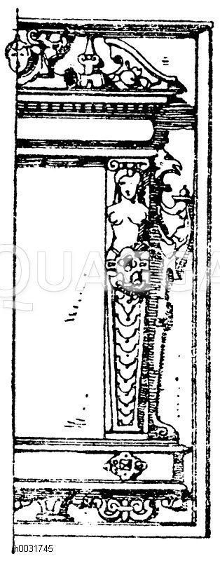 umrahmung der t rf llung von der kanzel im dom zu magdeburg deutsche renaissance 1595 97. Black Bedroom Furniture Sets. Home Design Ideas