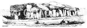 Grabkammer. Steinzeit Zeichnung/Illustration
