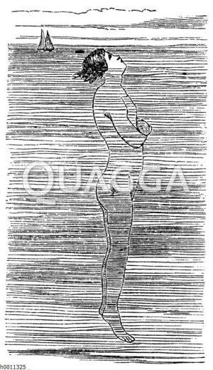Schwimmen: Stehen im Wasser Zeichnung/Illustration