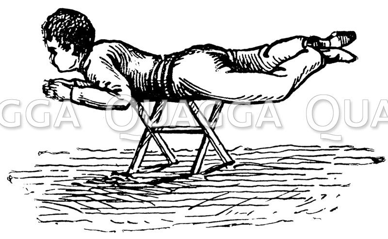 Trockenübung Schwimmenlernen Zeichnung/Illustration