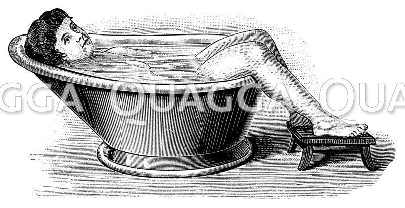 Rumpfbad Zeichnung/Illustration