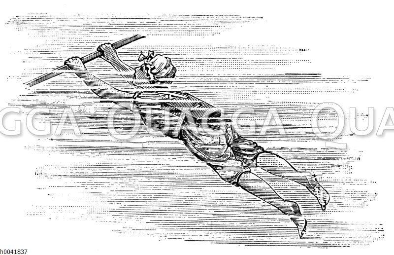 Schwimmbrett aus Kork Zeichnung/Illustration