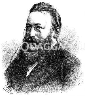 Ludwig Anzengruber (geb. 29. November 1839) Zeichnung/Illustration
