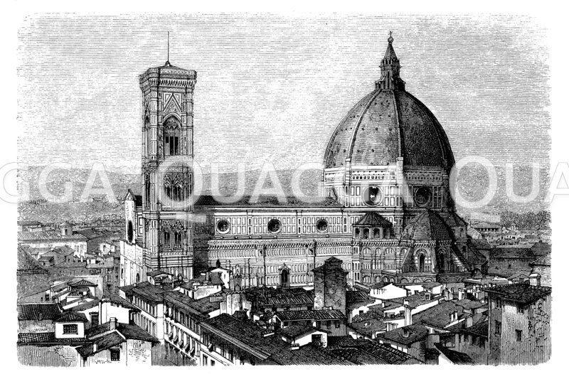 Florentiner Dom (Florenz, Italien, 1296 begonnen - 1472 vollendet)