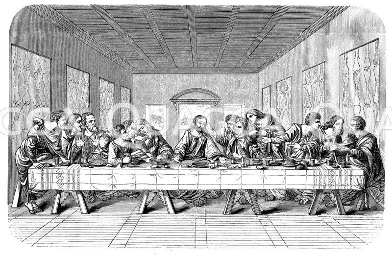Abendmahl. Nach dem Gemälde von Leonardo da Vinci