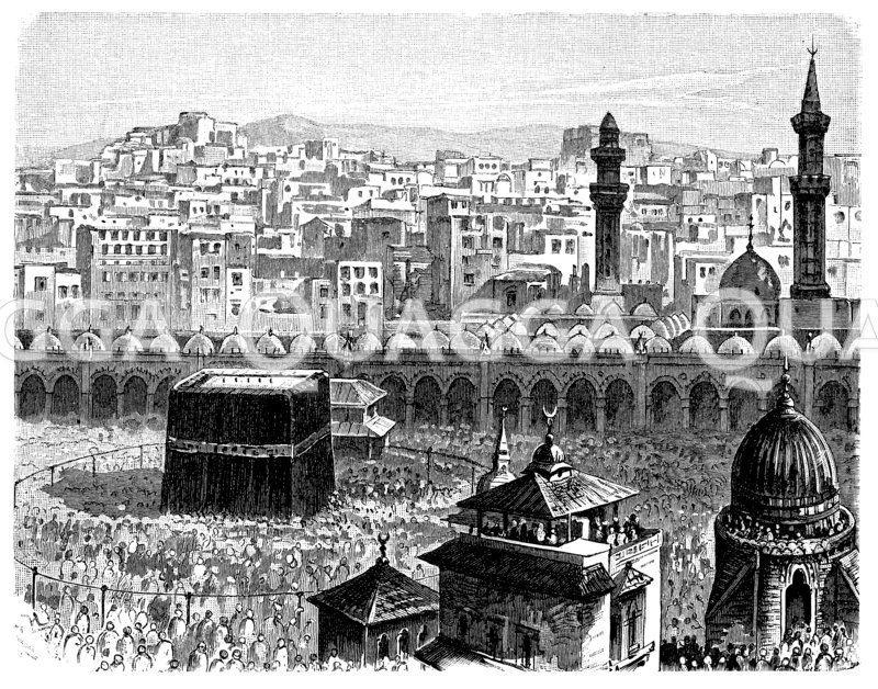 Kaaba (Mekka, Saudi-Arabien, )